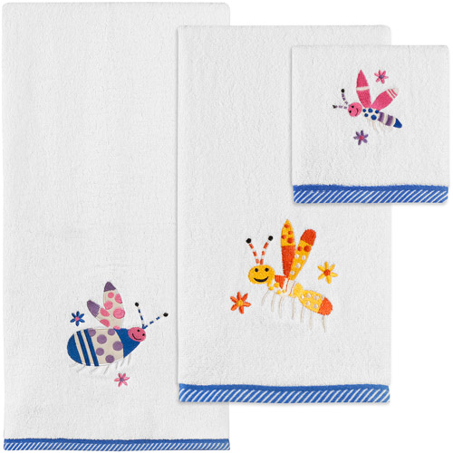 Generic Creative Bath Cute As A Bug 3 - Piece Towel Set