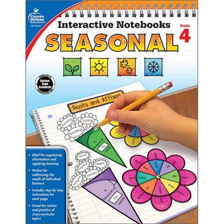 Carson Dellosa CD-105017 Interactive Notebooks Seasonal Resource Book - Grade 4