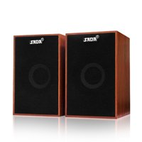 SADA V-160 USB Wired Wooden Combination Speakers Computer Speakers Bass Stereo Music Player Subwoofer Sound Box for Desktop Laptop Notebook Tablet PC Smart Phone