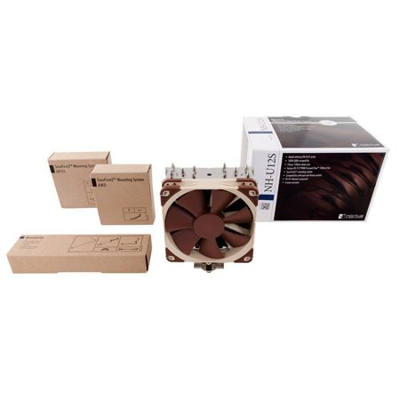 CPU Cooler [NH-U12S], NH-U12S is the latest version of Noctua NH-U12, With only 45mm fin depth,NH-U12S will not overhang the RAM slots even with 2 fans.., By