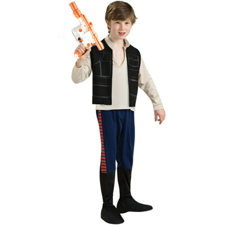 Kid's Boys Han Solo Star Wars Costume And Blaster Bundle Large - Han Solos Kids