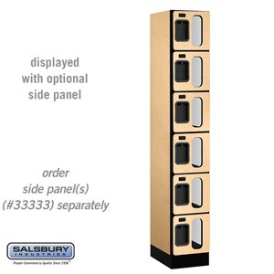 See-Through Designer Wood Locker - Six Tier Box Style - 1 Wide - 6 Feet High - 18 Inches Deep - Maple 18 Inch See Through Log