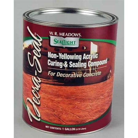 Silicone Acrylic Concrete Sealer - WR Meadows Decra-Seal WB Water Based Non-Yellowing Acrylic Concrete Sealer 1 Gal. Can