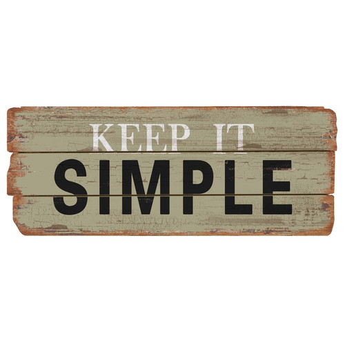 Nora Lane Rustic Keep It Simple Wood Sign Wall Decor