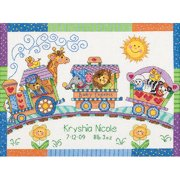 "Dimensions Baby Hugs ""Baby Express"" Birth Record Counted Cross Stitch Kit, 14ct, 12"" x 9"""