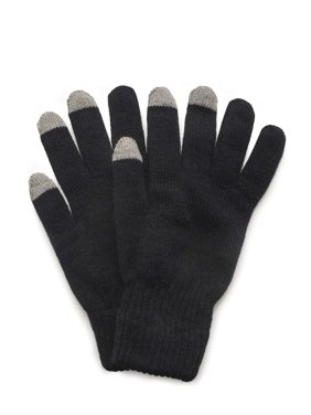 QuietWear 2 Layer Knit Glove with Texting Fingers