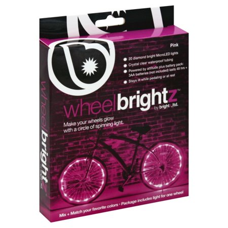 Brightz Wheel Bright LED Bicycle Light, Pink