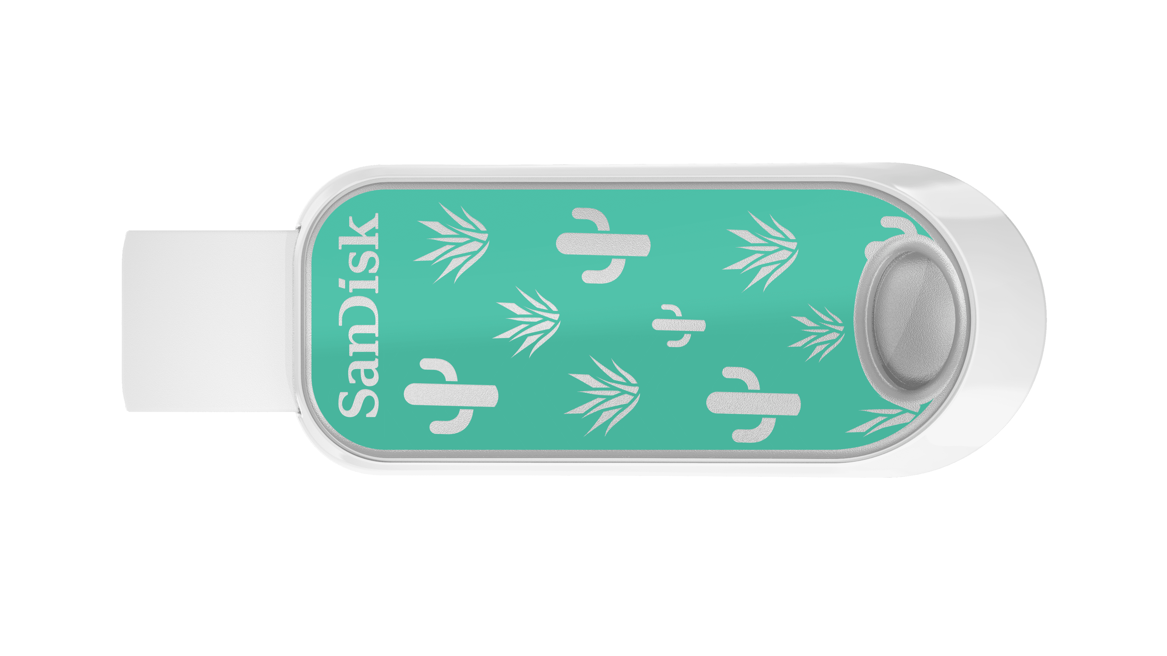 SanDisk 32GB Cruzer Snap USB 2.0 Flash Drive with Green Cactus Print - SDCZ62-032G-AW4G