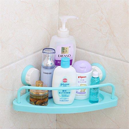Bath Corner Suction Shelf Shower Caddy Display Stand Bathroom Wall ...