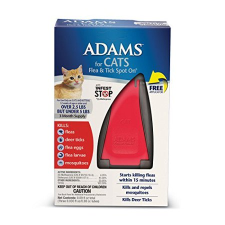 ADAMS CAT UNDER 5LB F&T W/ APP 3MO