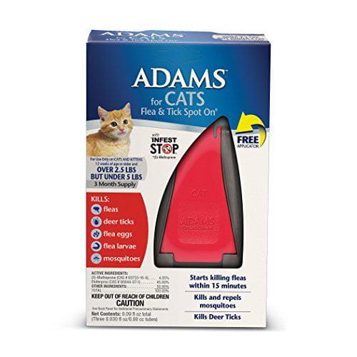 ADAMS CAT UNDER 5LB F&T W/ APP 3MO