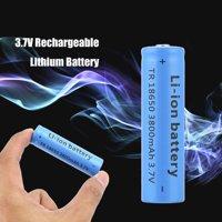 18650 Li-ion 3800mAh 3.7V Re able Battery for Your Flashlight 2Pcs - image 1 de 8