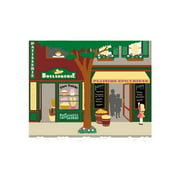 Pastry and Grocery Store Wall Mural