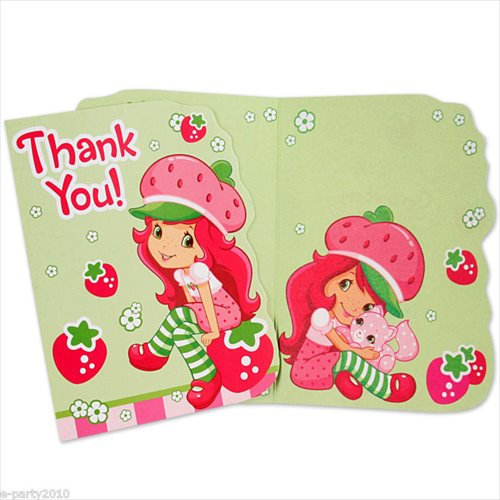 Amscan 236028 Strawberry Shortcake Thank-You Notes
