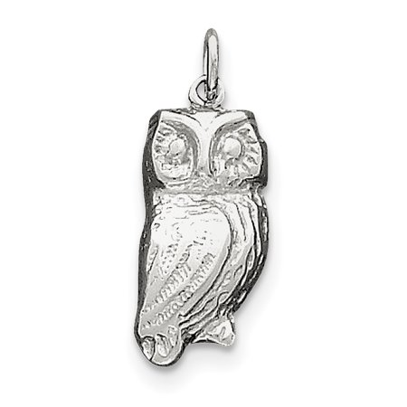Finejewelers Sterling Silver Owl Charm