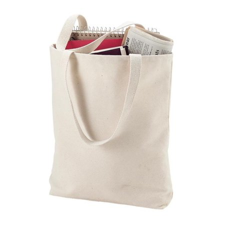TBF - (6 Pack) 6 Pack Heavy Cotton Denim Convention Reusable Tote Bag ( Natural) - Walmart.com 77bc44ad1f058
