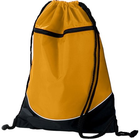 Augusta TRI-COLOR DRAWSTRING BACKPACK GD/BK/WH OS (Drawstring Backpack Bulk)