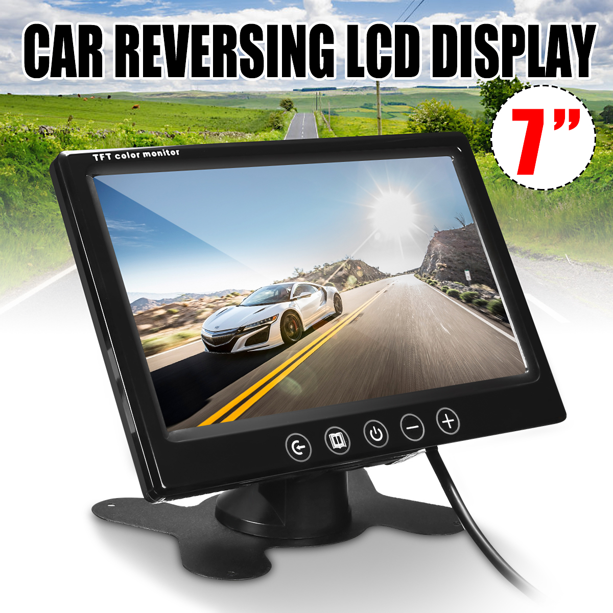 7'' TFT LCD HD Screen Monitor Car Rear View Reverse Parking Camera Security