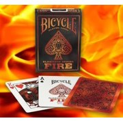 1 Deck Bicycle Fire Standard Poker Playing Cards by USPCC