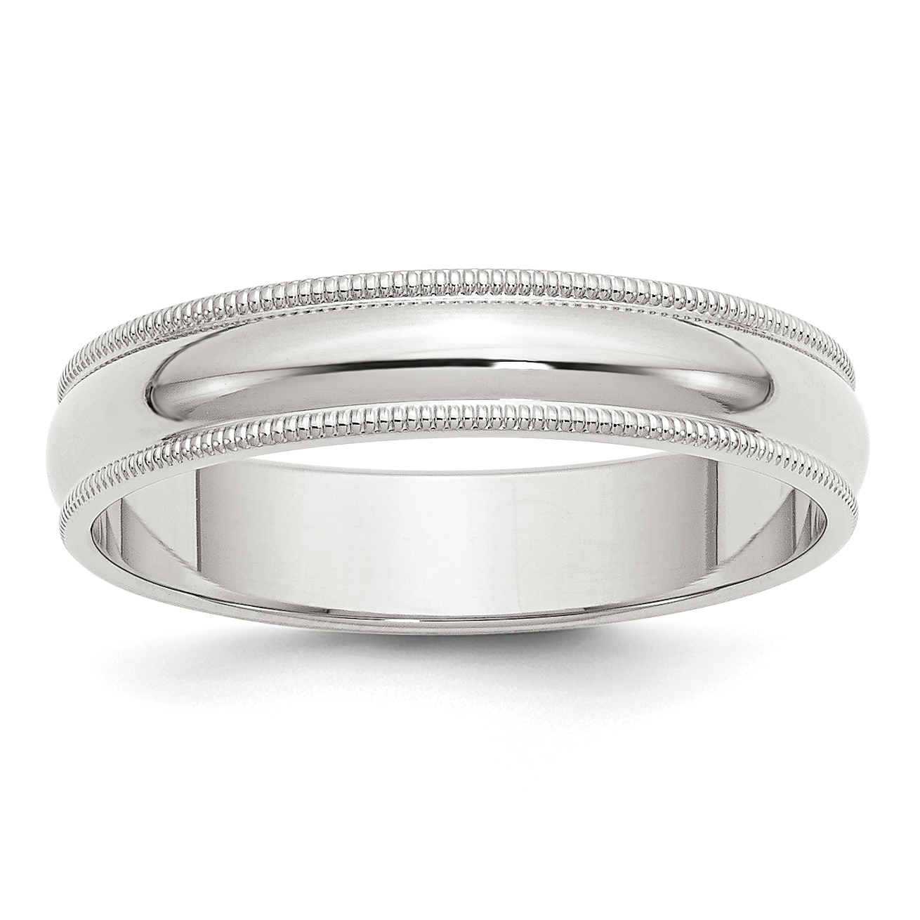 925 Sterling Silver 5mm Half Round Milgrain Wedding Ring Band Size 4.50 Classic Fine Jewelry Gifts For Women For Her - image 2 de 2