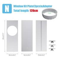 3pcs 45cm Length Portable Air Conditioner Spare Parts - Window Slide Kit With 15cm Diameter Adaptor