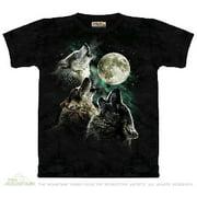 975d6f909 Green 100% Cotton Three Wolf Moon Novelty T-Shirt