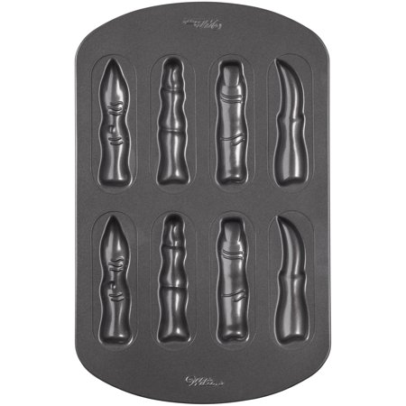 Wilton Halloween Fingers Cookie Pan, 8-Cavity