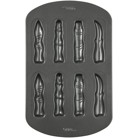 Wilton Halloween Fingers Cookie Pan, 8-Cavity (Vegan Halloween Cookies)