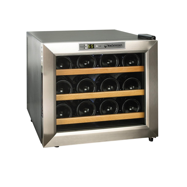 sc 1 st  Walmart & Wine Enthusiast 2720213W Silent 12-Bottle Wine Cooler - Walmart.com