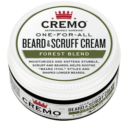 Cremo Beard & Scruff Cream, Forest Blend, 4 fl oz