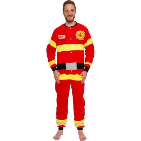 Wearing Uniform For Halloween (Silver Lilly One Piece Firefighter Novelty Uniform Costume)