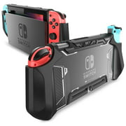 Dockable Case for Nintendo Switch - Mumba TPU Grip Protective Cover Case Compatible with Nintendo Switch Console and Joy-Con Controller(Black)