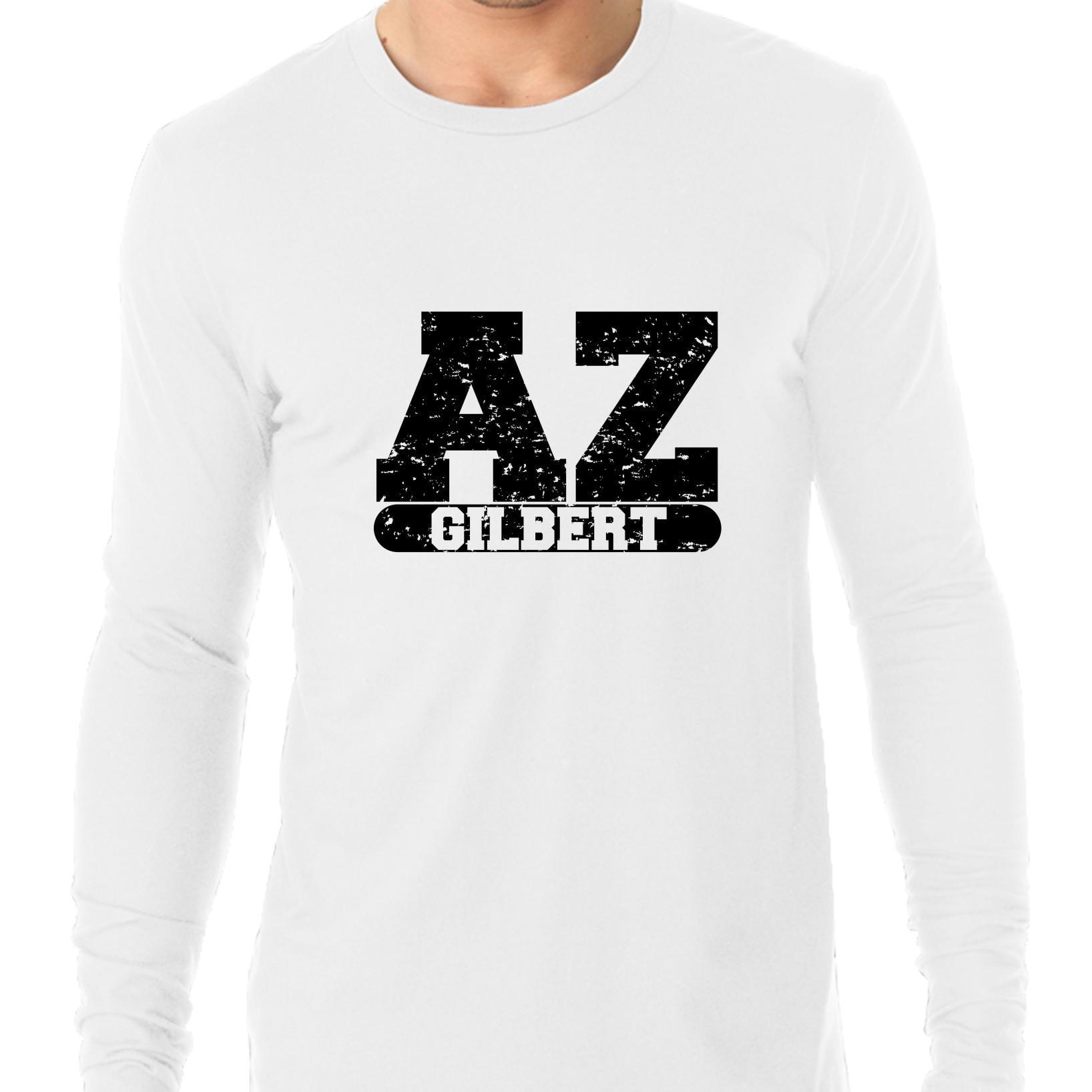 Gilbert Arizona Az Classic City State Sign Mens Long Sleeve T
