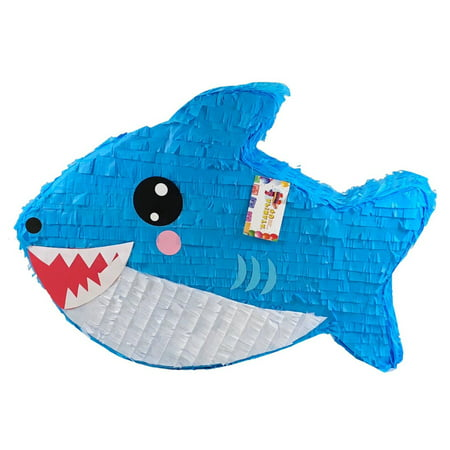 Baby Shark Pinata, Blue, 18in x - Baby Pinatas