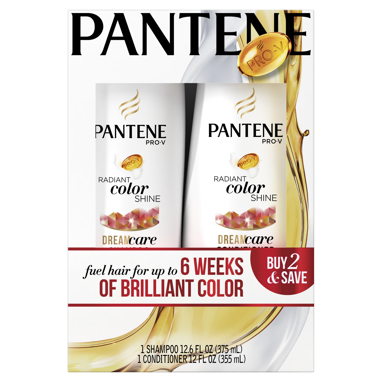 Pantene Pro-V Radiant Color Shine Shampoo and Conditioner Dual Pack, 24.6 fl oz