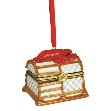 red lobster fishing trap hinged box christmas holiday ornament - Red Lobster Open On Christmas