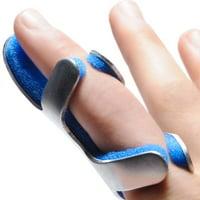 PROCARE Frog Style Finger Splint  Aluminum / Foam Left or Right Hand Blue / Silver Medium