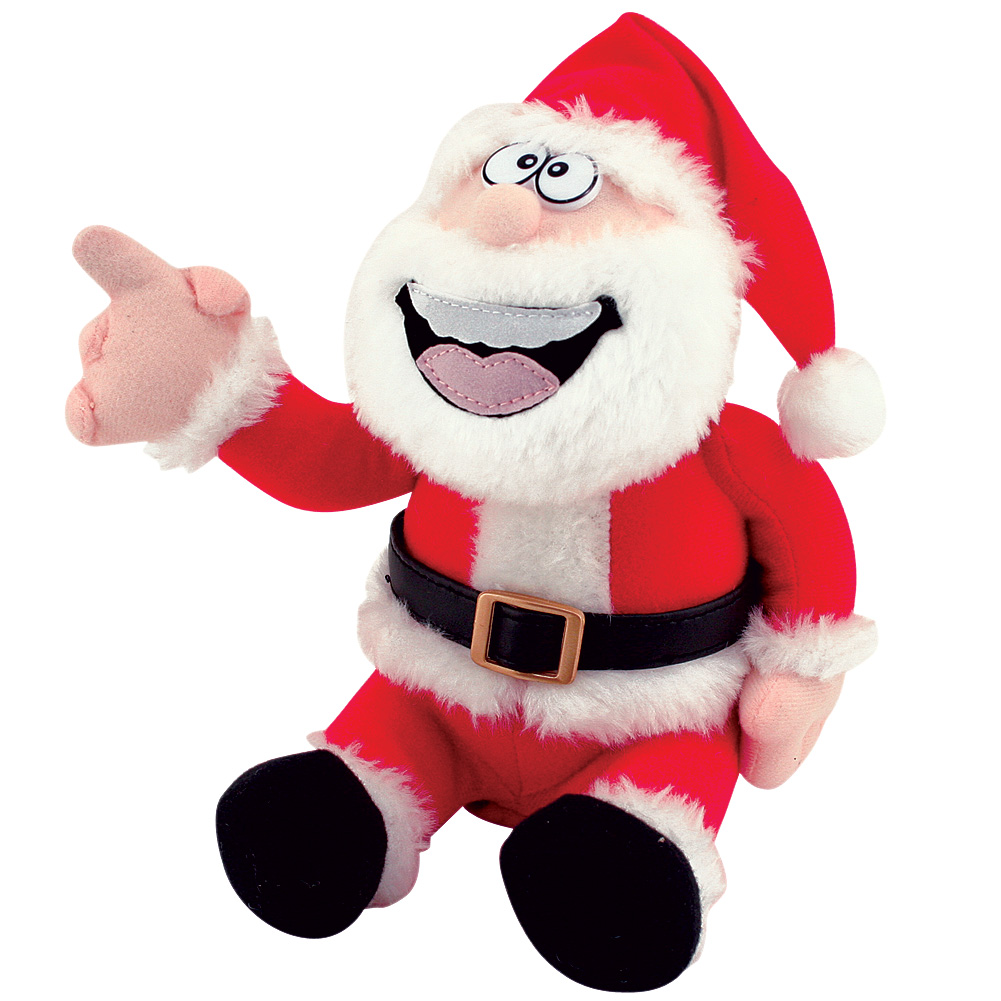Pull My Finger Animated Farting Christmas Santa Claus Novelty Plush