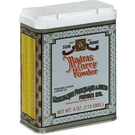 Sun Brand Madras Curry Powder, 4 oz (Pack of 12)