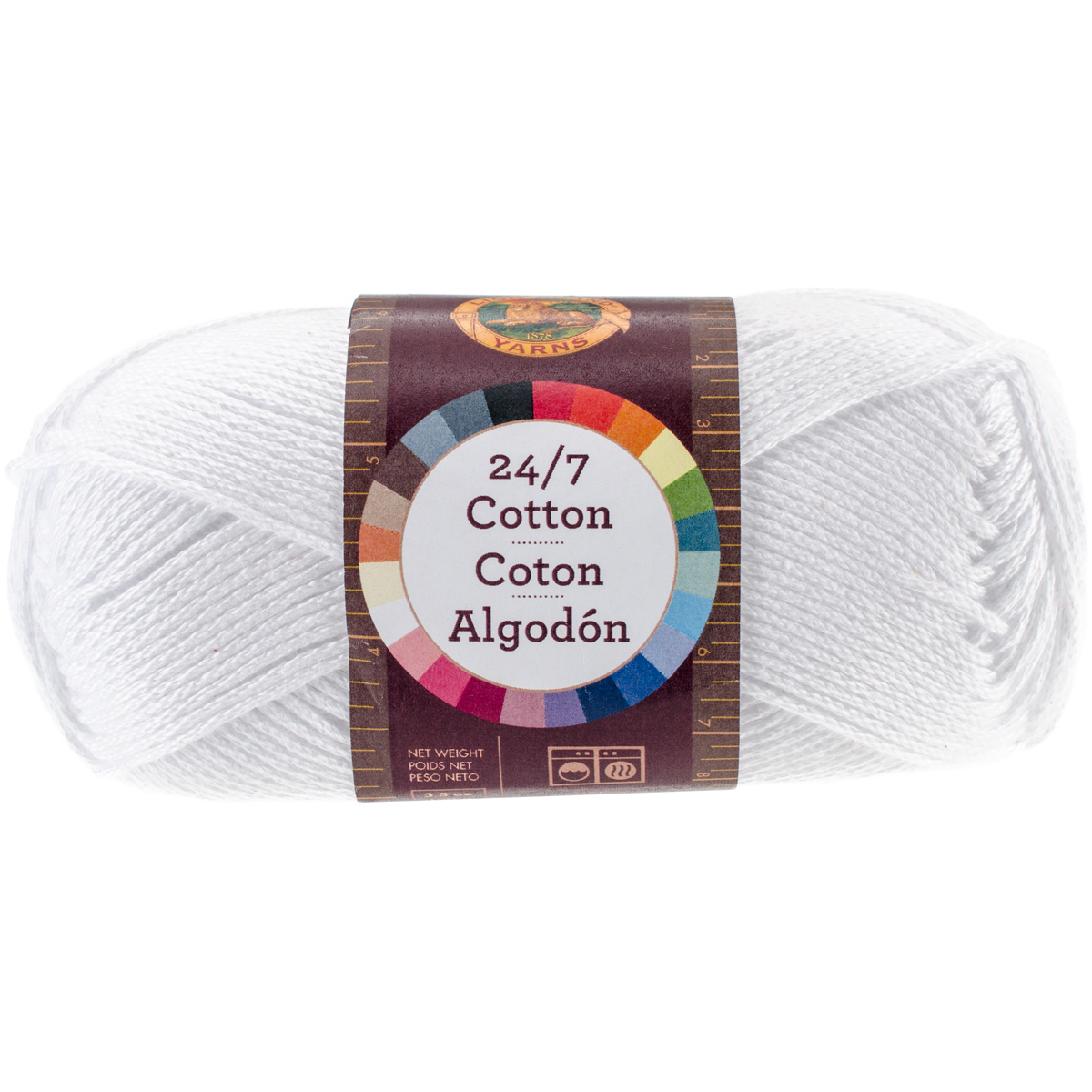 Lion Brand 24/7 Cotton Yarn-White - image 1 of 1