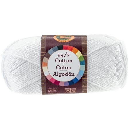 Lion Brand 24/7 Cotton Yarn-White - image 1 de 1