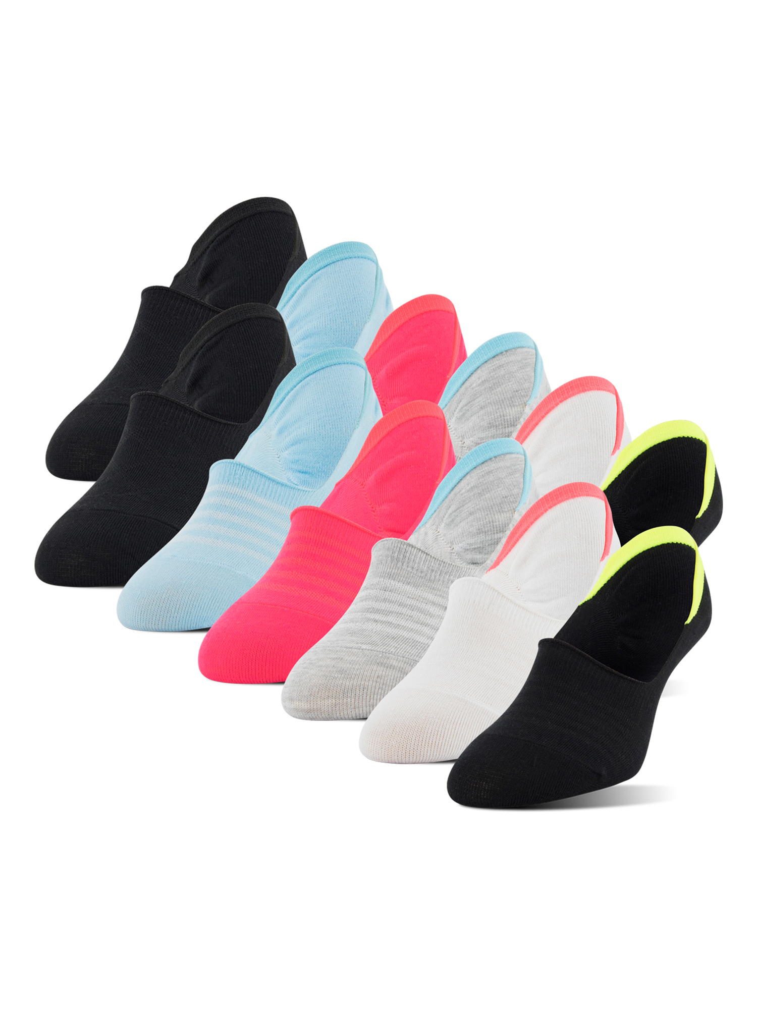 Women's Mid Sport Cut Liners with Y-heel, 12 Pairs
