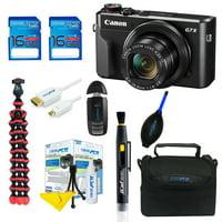 Canon PowerShot G7 X Mark II Digital Camera + Pixi Basic Bundle