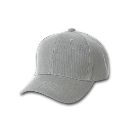Plain Fitted Curve Bill Hat, Grey 7](Grad Hat)