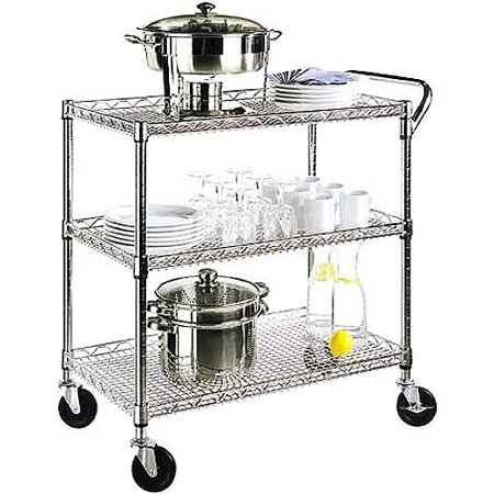 Seville Classics 3-Shelf Commercial Utility Cart