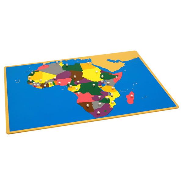 Kid Map Of Africa.Kid Advance Montessori Puzzle Map Of Africa Walmart Com