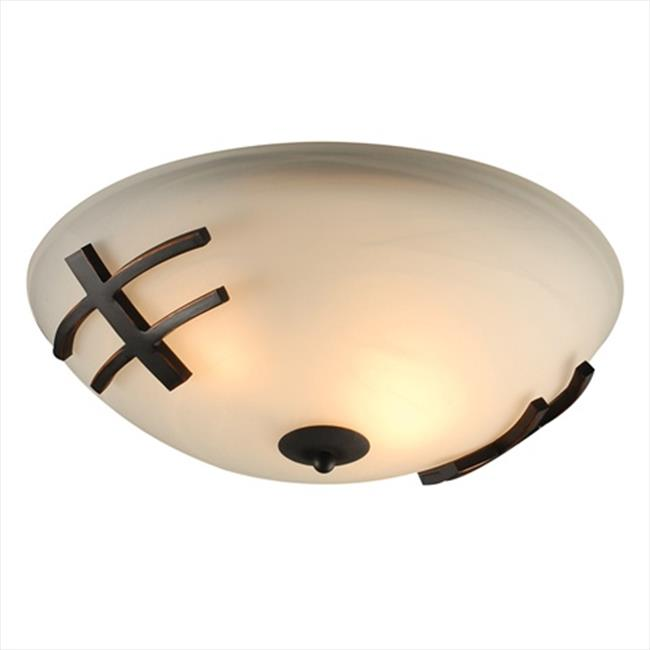 PLC Lighting 14872 ORB Antasia Ceiling Lights 2 Light Incandescent 60W in Oil Rubbed Bronze
