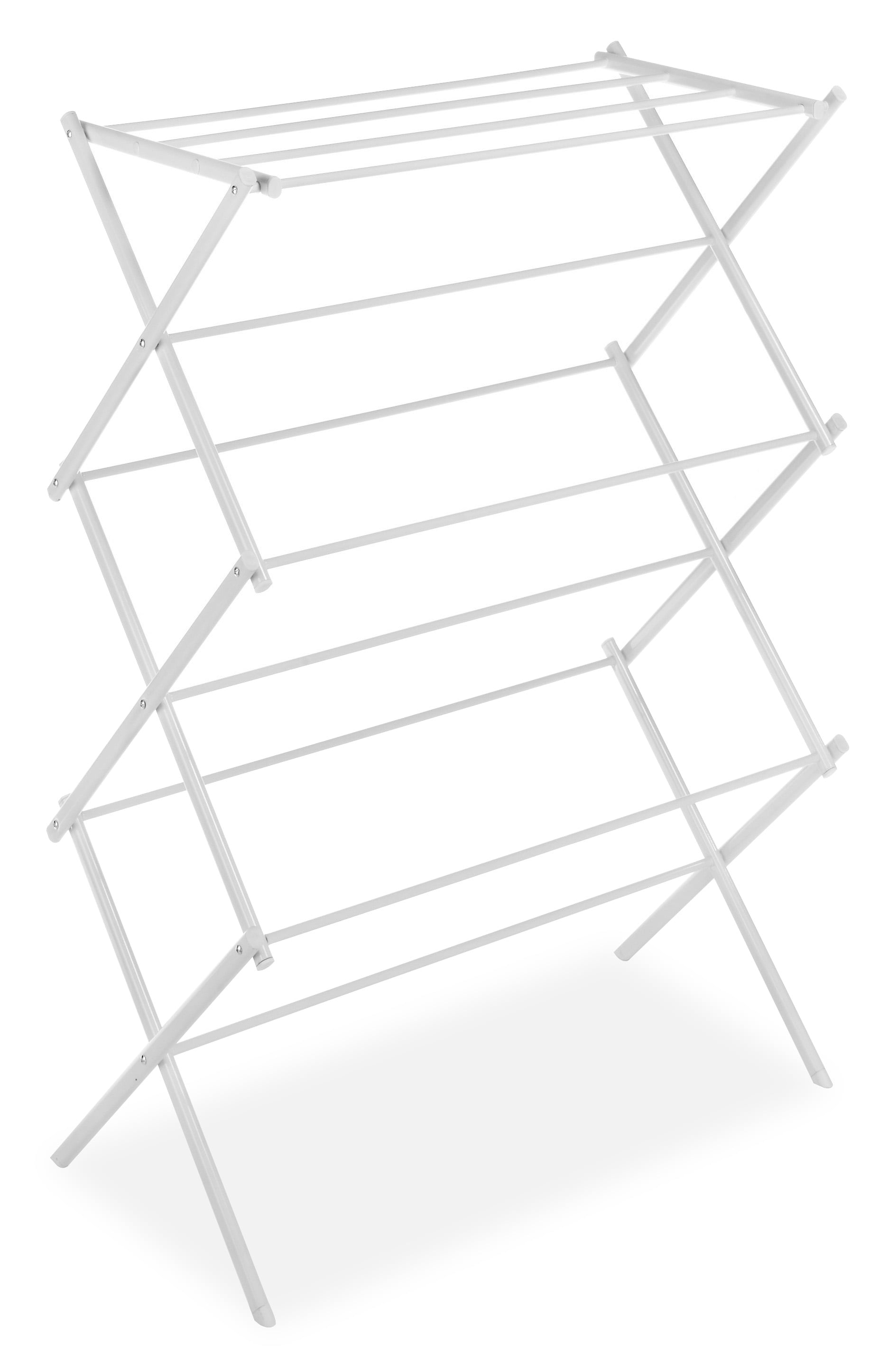 Whitmor 3 Tier Folding Drying Rack White 14 5 X 29 5 X 41 75 Walmart Com Walmart Com