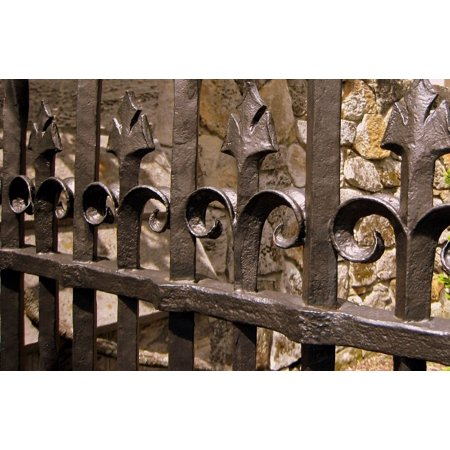 LAMINATED POSTER Fence Design Iron Gate Wrought Ornate Metal Poster Print 24 x 36