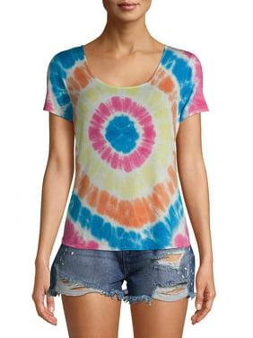 No Boundaries Juniors' Twist Back Tie Dye T-Shirt